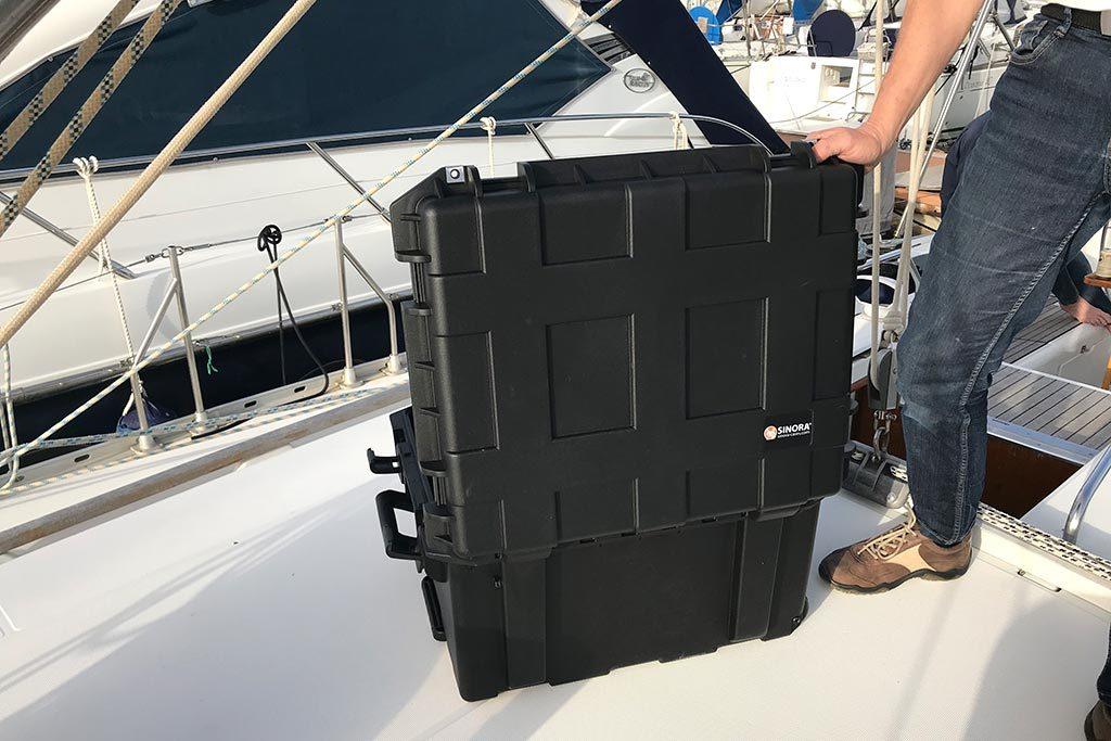 Sinora Koffer Segelschiff Equipment